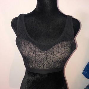 Lululemon XL a/b Shadow Leaf mesh sports bra